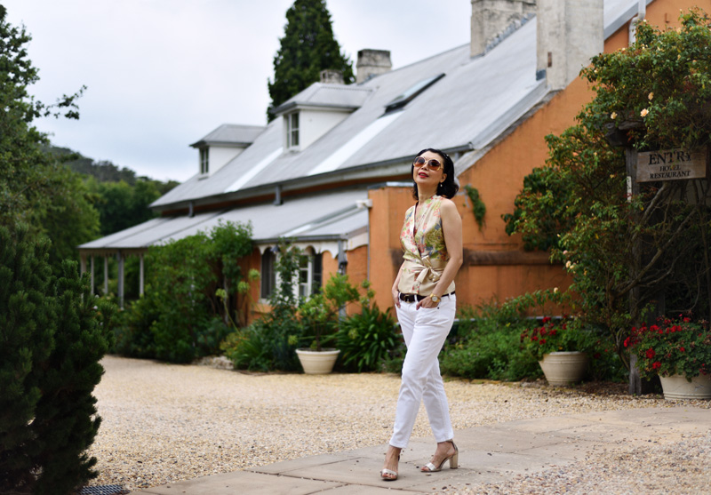 White Caviar Life fashion portrait on location at the Fitzroy Inn, Mittagong.