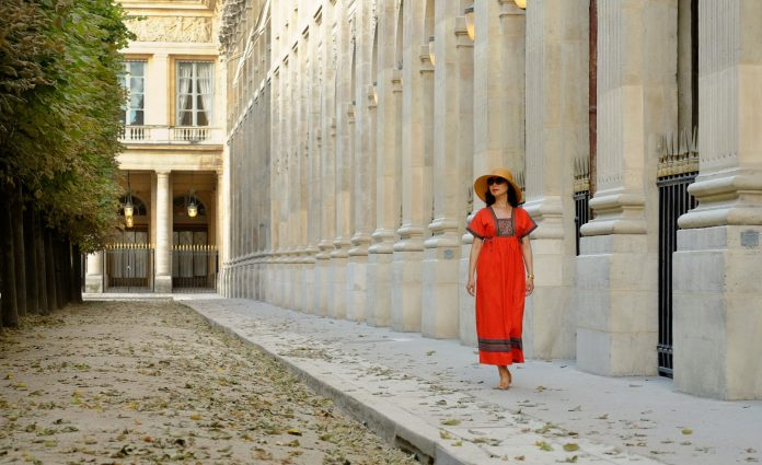 White Caviar Life fashion story and photoshoot on location in Paris Palais Royal.