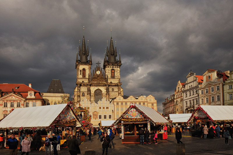 Prague Easter Markets in the Old Town Square.