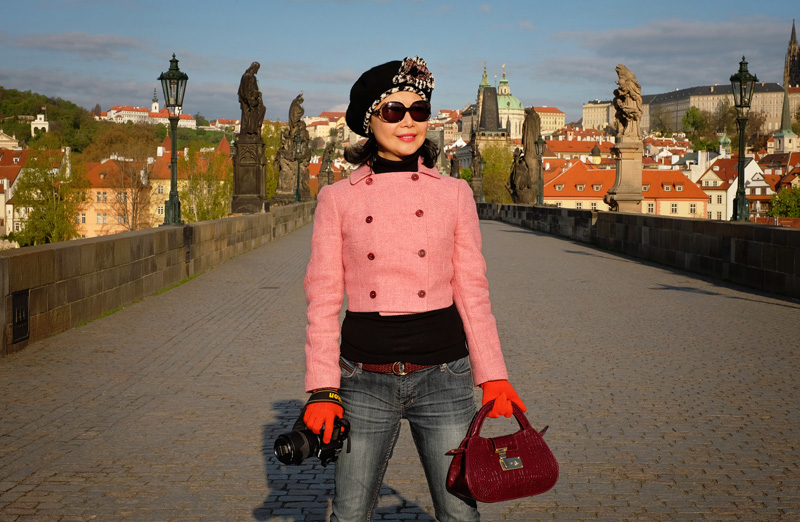 Vivienne Shui Prague street style for White Caviar Life.