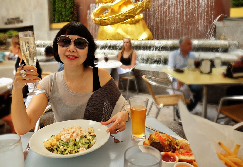 Lunch at the Summer Garden & Bar, Rock Center Café.