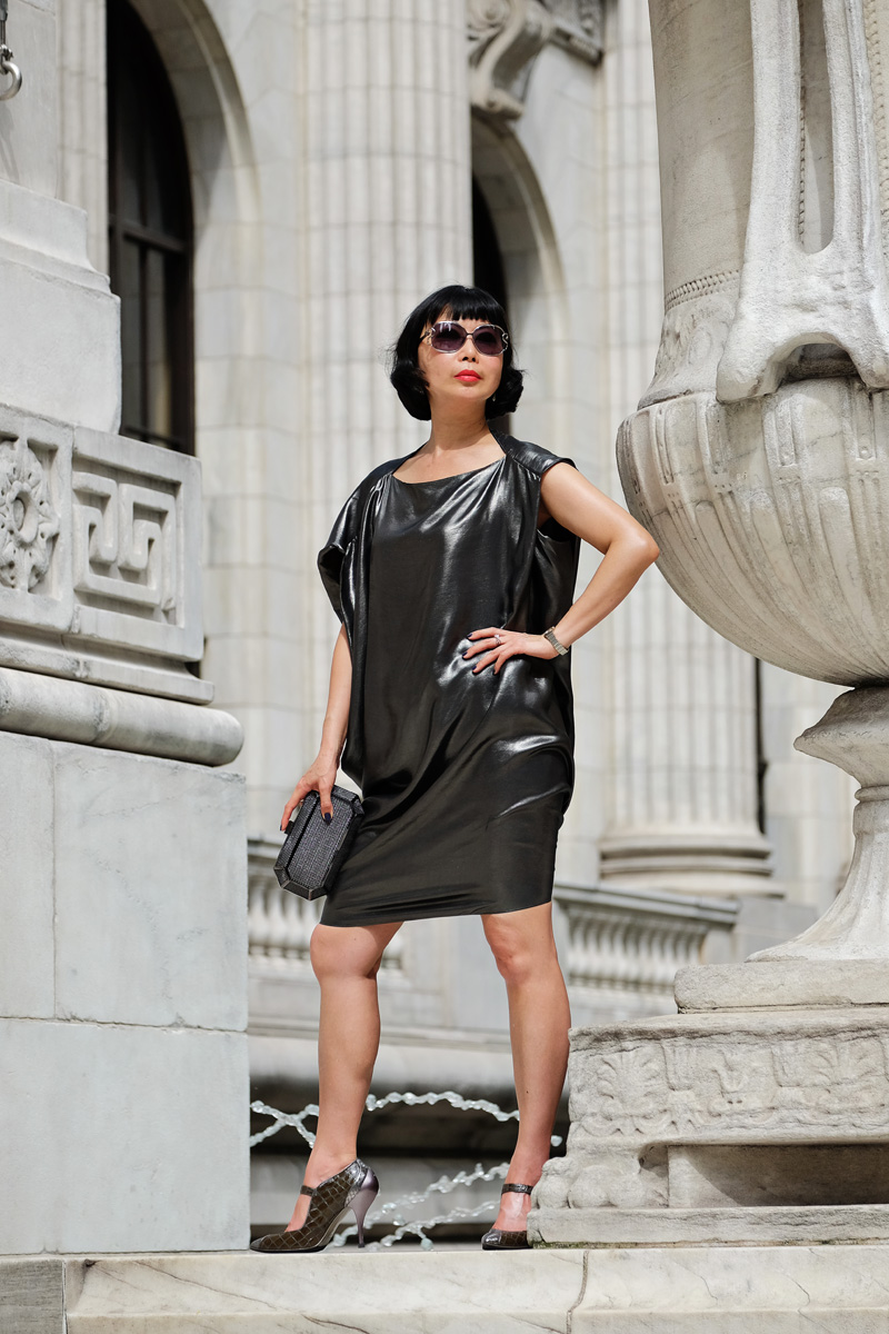 White Caviar Life New York Public Library fashion shoot.