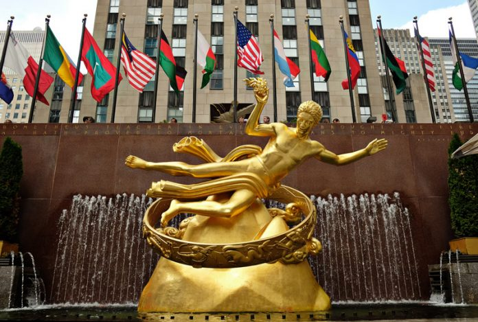 Rockefeller Center landmarks.