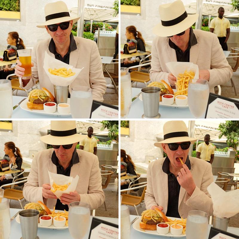 White Caviar Life food review of Rock Center Café, Rockefeller Center.