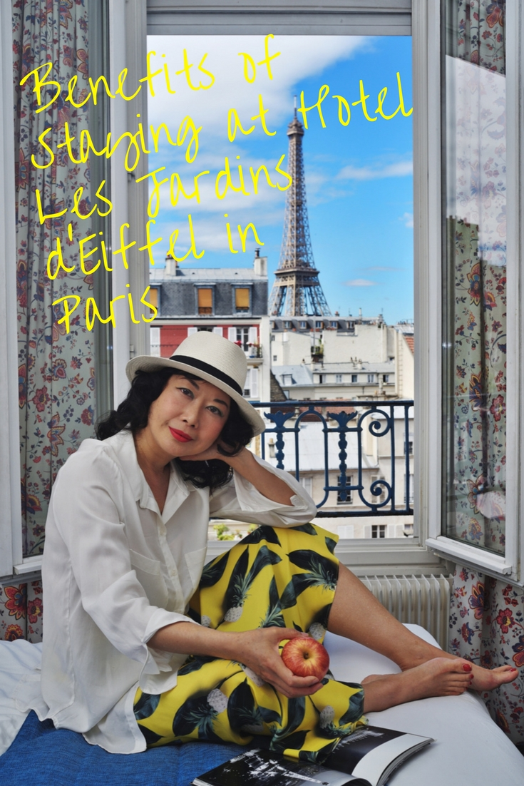 Parisian hotel Les Jardins d'Eiffel review by White Caviar Life.