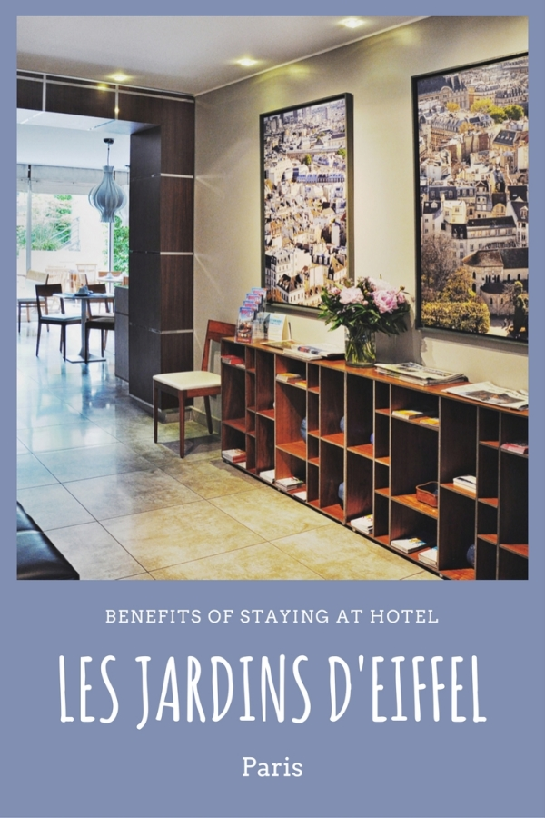 Paris hotel Les Jardons d'Eiffel reviews by White Caviar Life.
