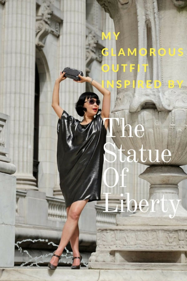 White Caviar Life New York fashion shoot inspired by the Statue of Liberty.