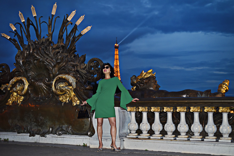 White Caviar Life Pont Alexandre III fashion shoot by Kent Johnson Photography.