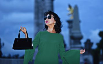 White Caviar Life Paris Pont Alexandre III fashion shoot.
