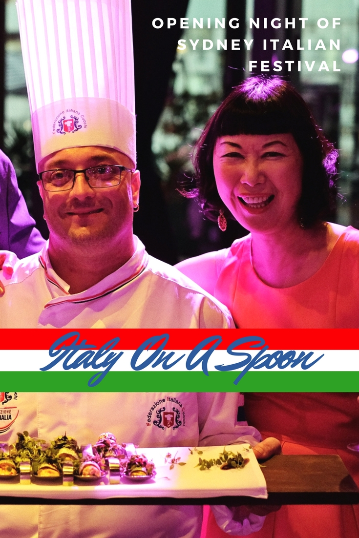 'Italy on A Spoon' - opening night of the Sydney Italian Festival.