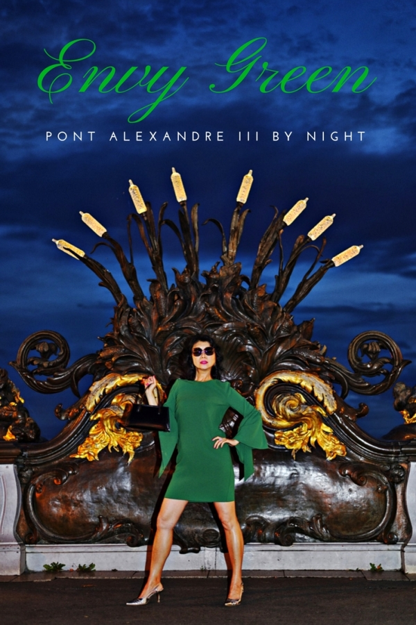 Pont Alexandre III by night Paris fashion story by White Caviar Life.