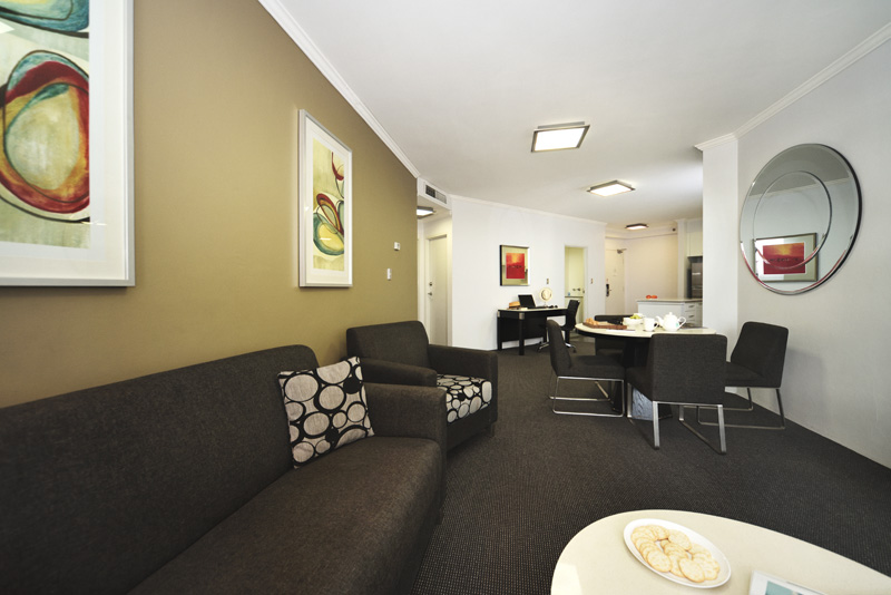 Spacious apartment of Meriton Suites Bondi Junction.