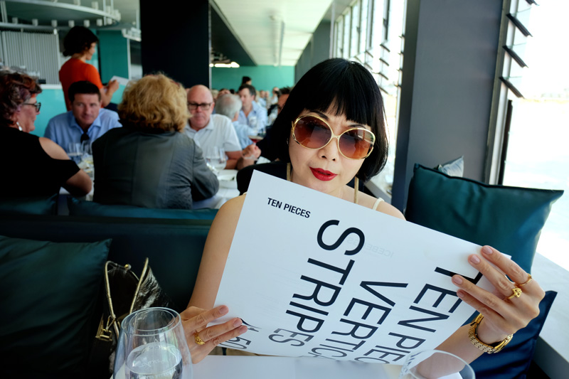 White Caviar Life's writer Vivienne Shui at the Icebergs Dining Room, Bondi Beach.