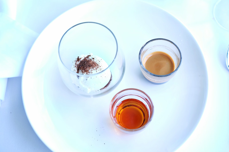 Kent's 'Liquid Dolci': Amaretto Affogato. At the Icebergs Dining Room and Bar.