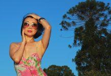 Versace swimsuit photo shoot by fashion photographer Kent Johnson.
