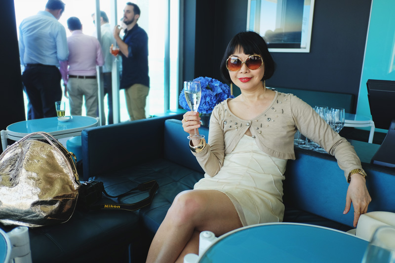 White Caviar Life's writer Vivienne Shui at the Icebergs Dining Room and Bar.