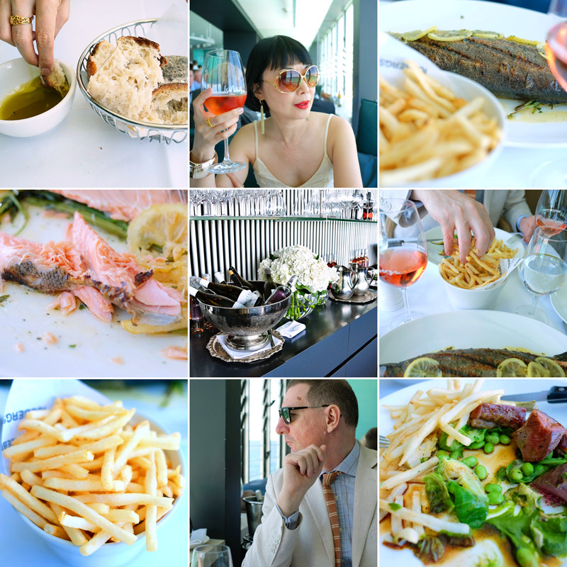 Lunch at the Icebergs Dining Room and Bar, Bondi Beach.