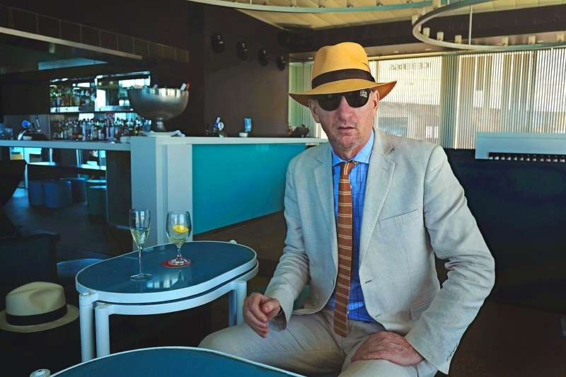 Australian fashion photographer Kent Johnson at the Icebergs Dining Room and Bar, Bondi Beach.
