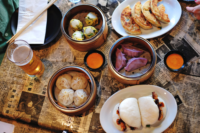 Dim Sum, Xiao Long Bao; hot buns, dumplings; pancakes and Sapporo beer!