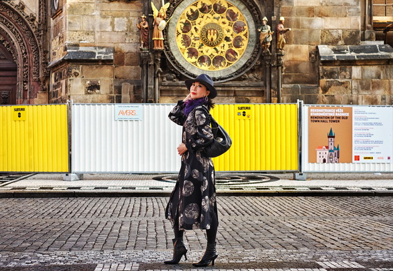 White Caviar Life Prague fashion shoot took place at the Prague Old Town Hall.