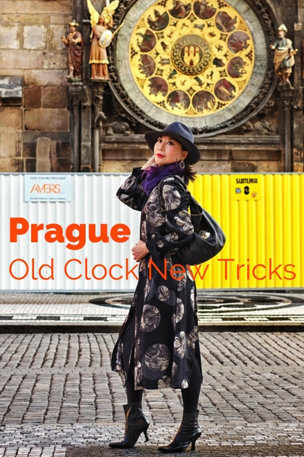 White Caviar Life Prague fashion shoot took place in front of the Prague astronomical clock in the Old Town Square.