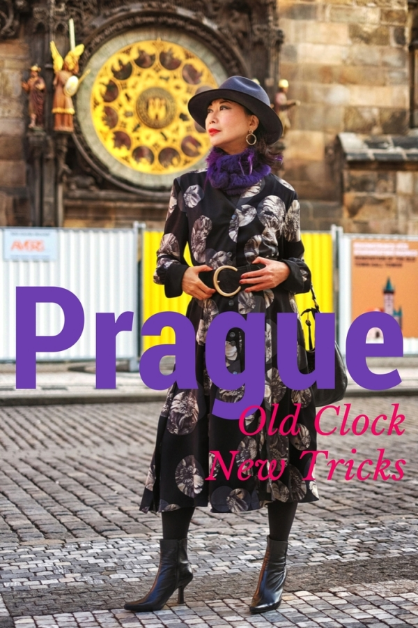 White Caviar Life Prague fashion shoot took place in front of the Prague Old Town Hall Tower at the Old Town Square.