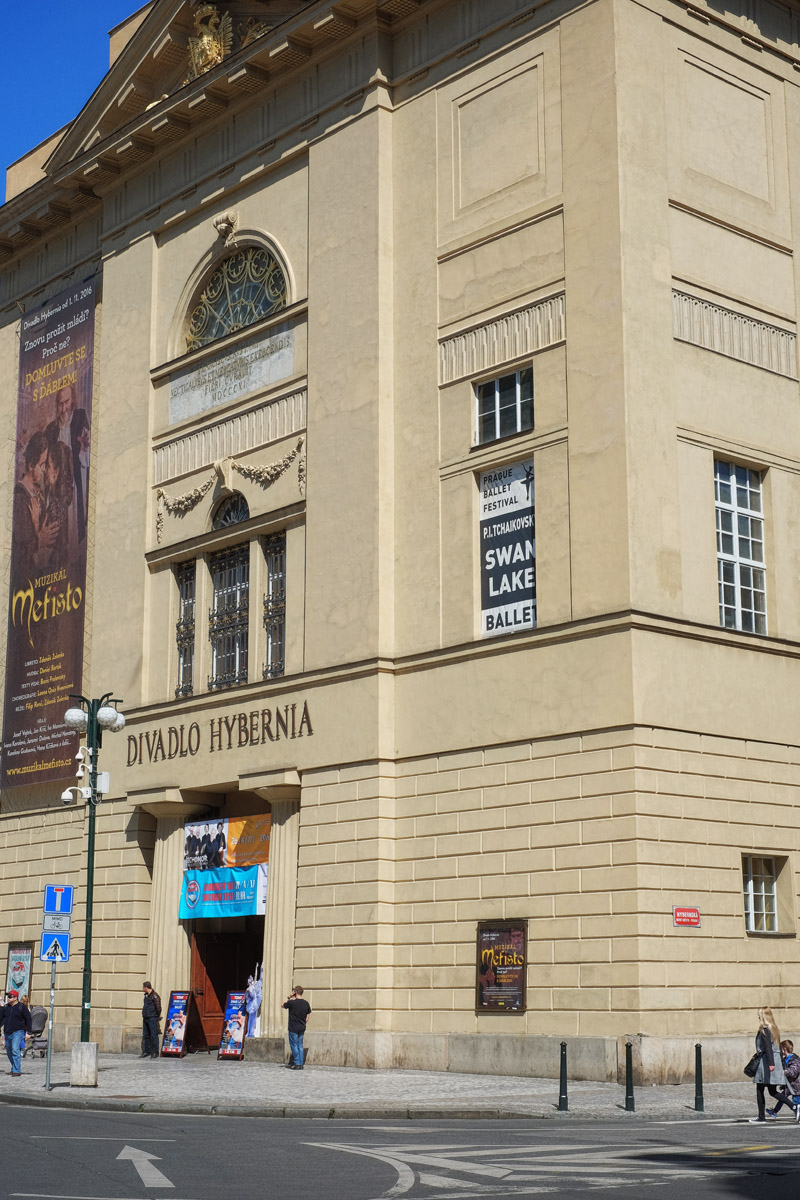 Divadlo Hybernia (Hybernia Theatre) in Prague.
