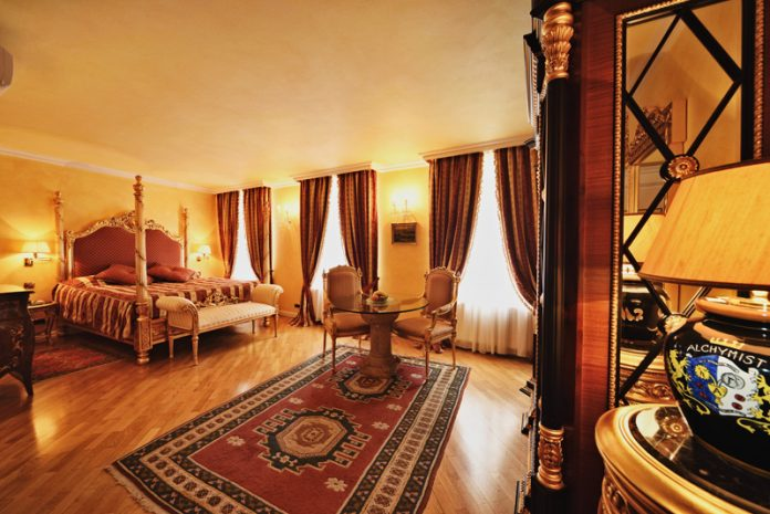 Eliška Přemyslovna Suite, one of the Junior Suites at the Alchymist Nosticova Palace, Prague.