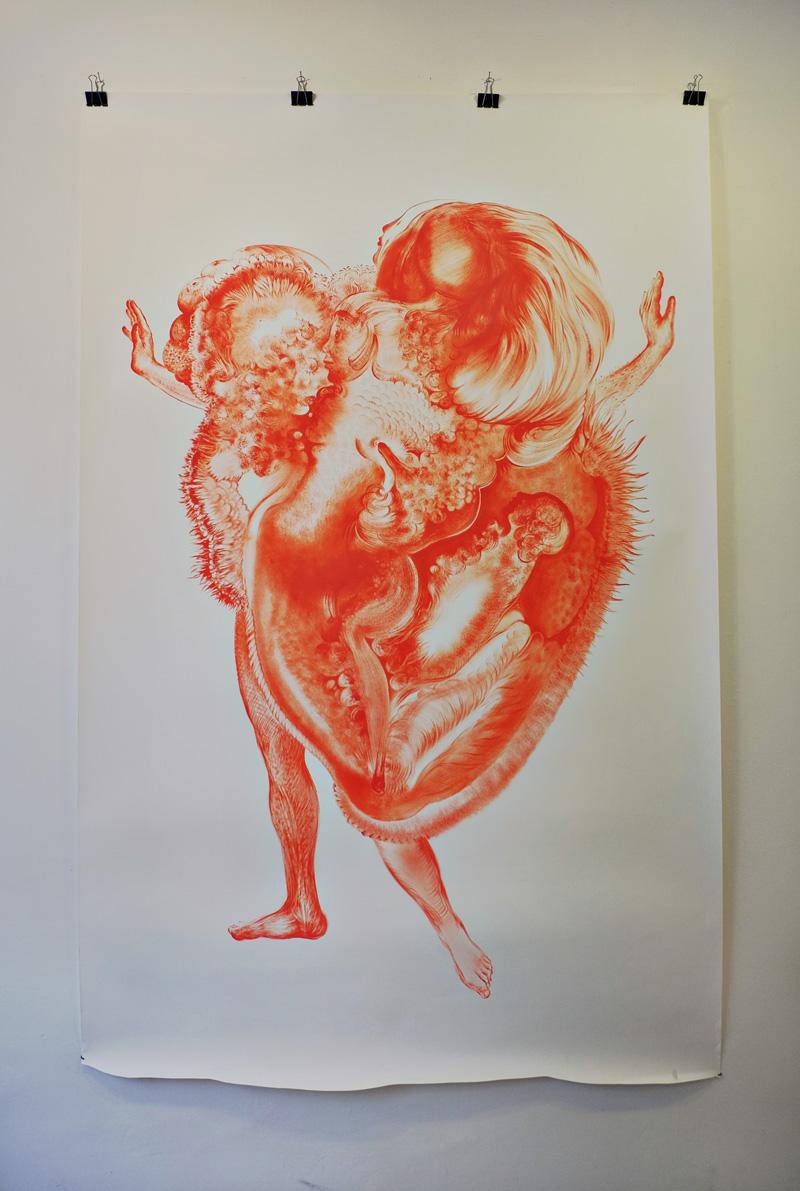 A stunning work by Czech artist Veronika Holcová.