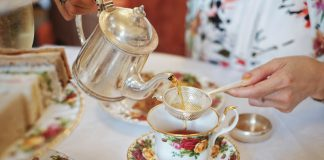 High tea at The Tea Room in Queen Victoria Building, Sydney.