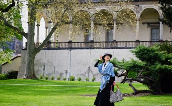 Fashion shoot at Queen Anne's Summer Palace in Prague by photographer Kent Johnson.