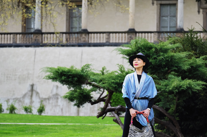 White Caviar Life Prague fashion story on location at Queen Anne's Summer Palace.