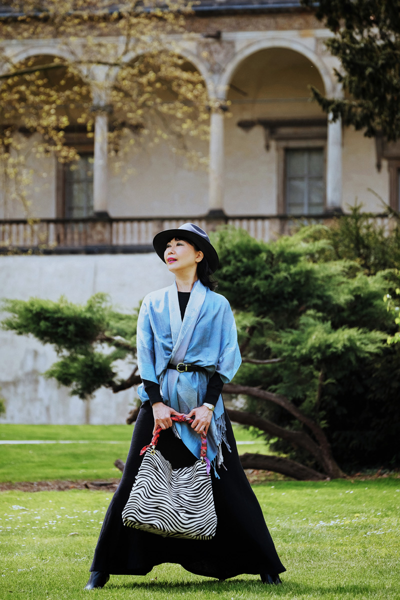 Prague fashion shoot at Queen Anne's Summer Palace by fashion photographer Kent Johnson.