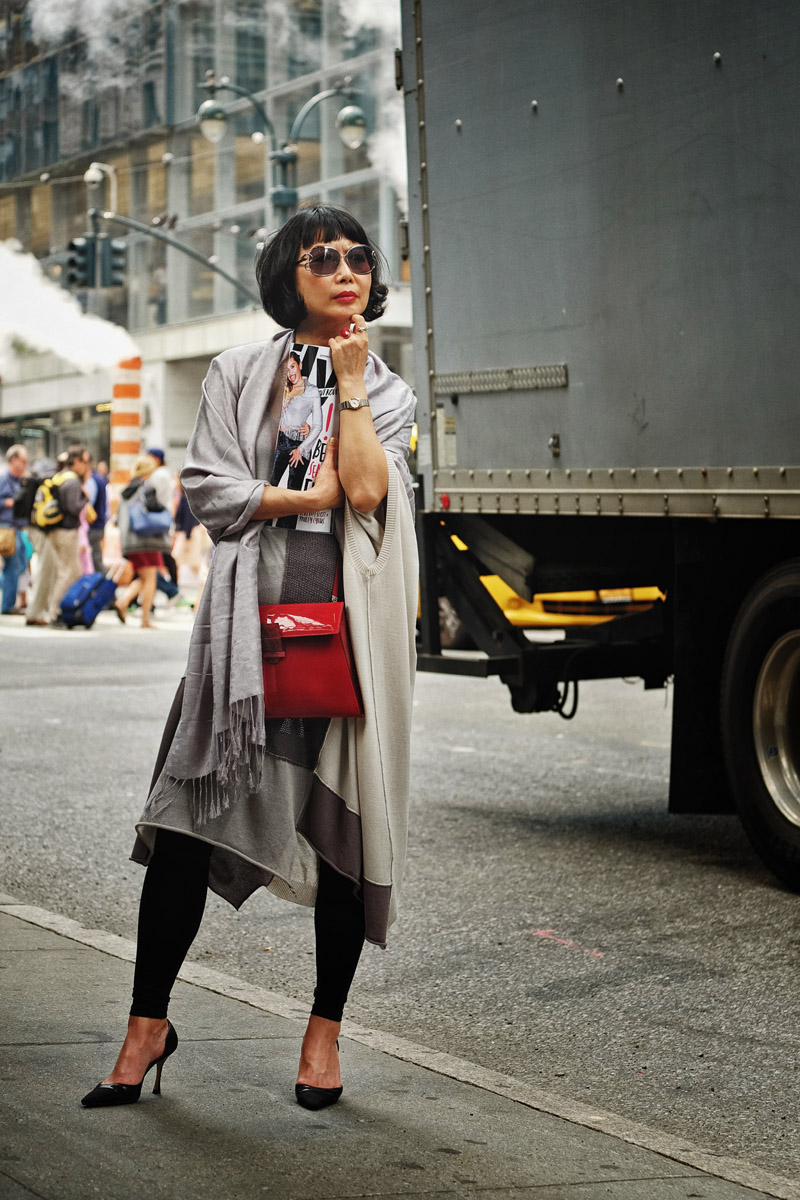 'Manolo and the City' New York street style fashion shoot by fashion photographer Kent Johnson.