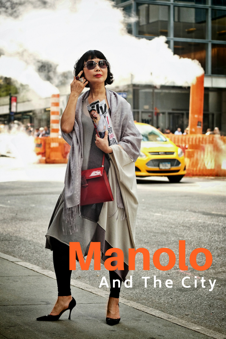 'Manolo and the City' street style fashion shoot on location in Manhattan by fashion photographer Kent Johnson for White Caviar Life.