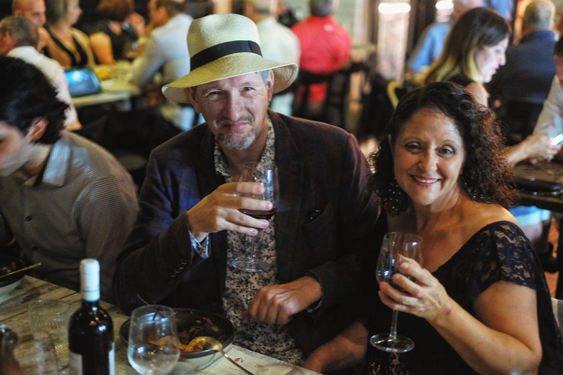 Photographer Kent Johnson and MasterChef's 'Nonna G' at a Veneto wine preview in DOC Dining restaurant.