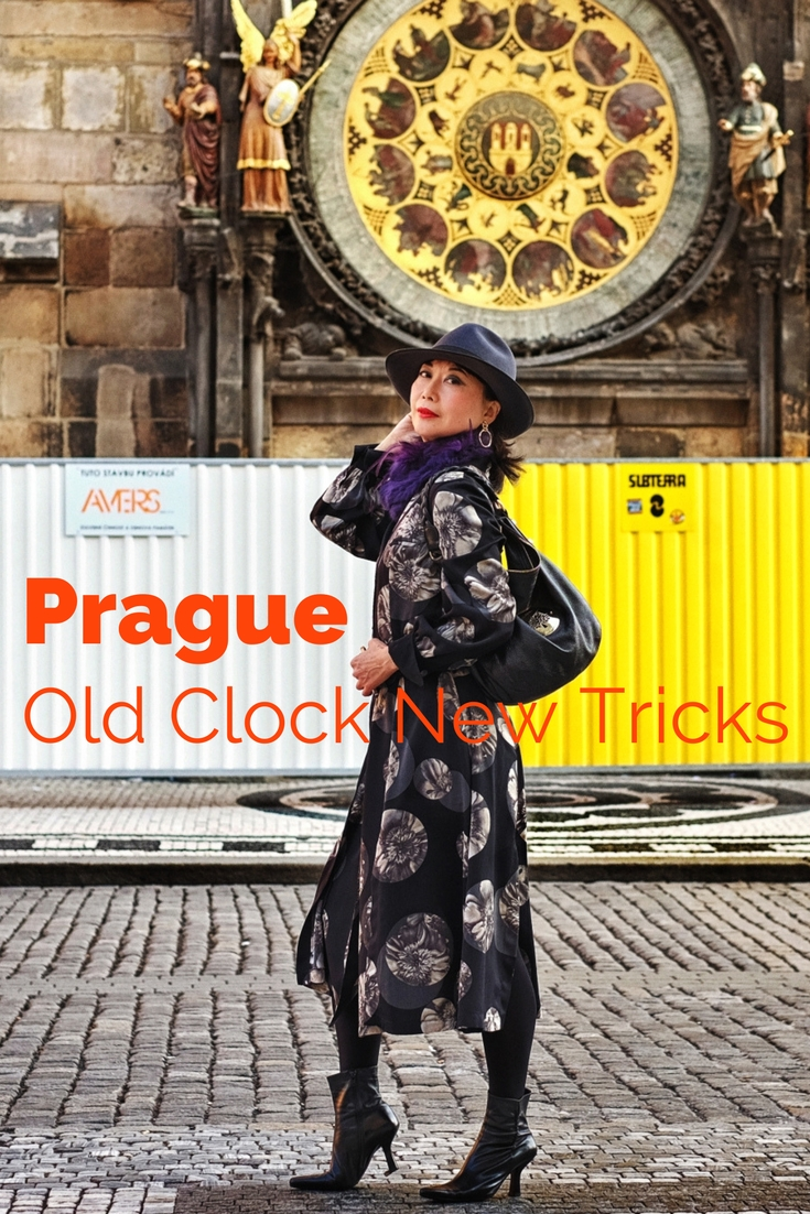 Prague fashion and portrait photo shoot on location at the Prague Astronomical Clock.