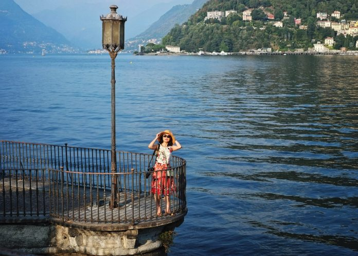 White Caviar Life Lake Como photoshoot by fashion photographer Kent Johnson.