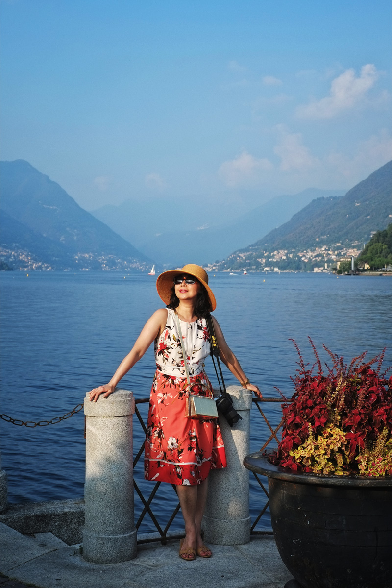White Caviar Life Lake Como fashion story.