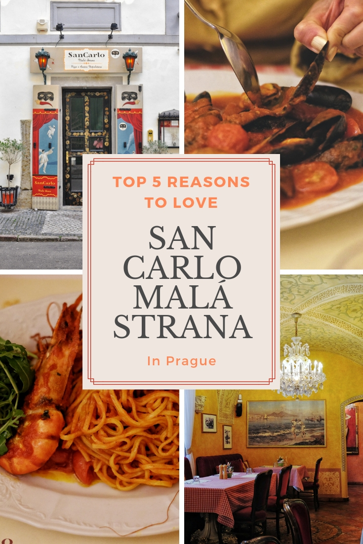 San Carlo Malá Strana Prague Italian restaurant reviews by White Caviar Life.