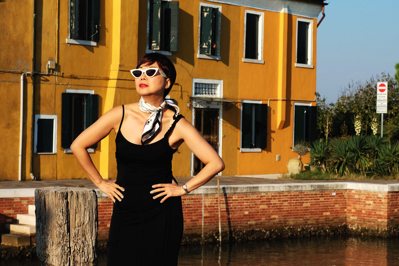 'Me, Moschino & Mazzorbo' fashion shoot on location in Venetian lagoon island Mazzorbo.