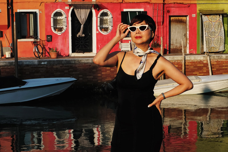 'Me, Moschino & Mazzorbo' photoshoot in Venetian lagoon island Mazzorbo.