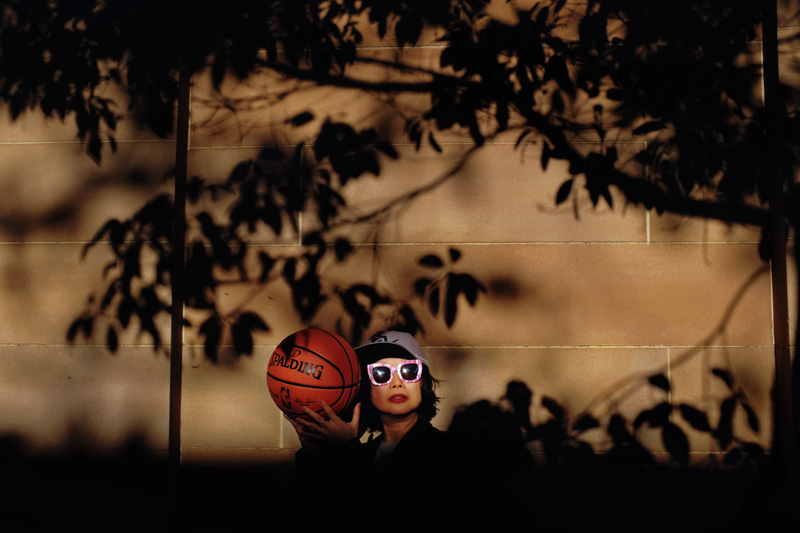 Street style portrait by fashion photographer Kent Johnson.