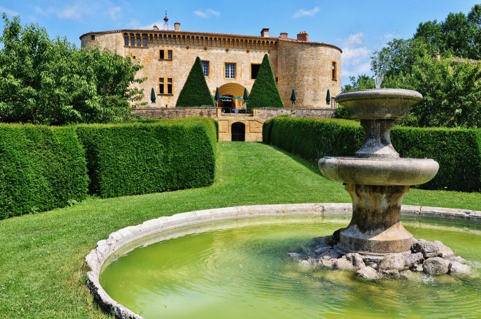 Château de Bagnols, a luxury castle hotel in the Beaujolais region.
