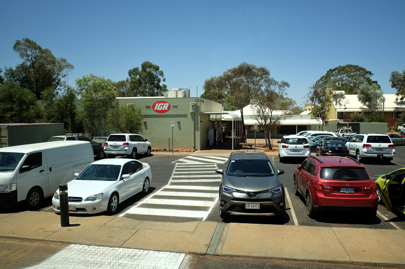 Where you can find an IGA supermarket when staying at the Ayers Rock Resort.