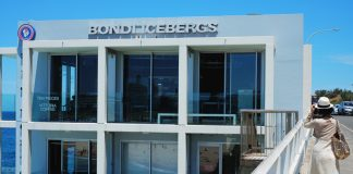 The facade of the Bondi Icebergs, Bondi Beach.