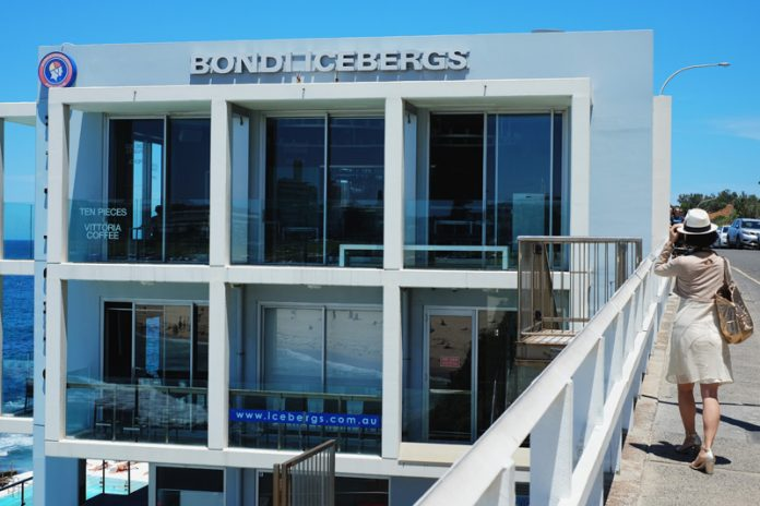 The facade of the Bondi Icebergs, Bondi Beach.