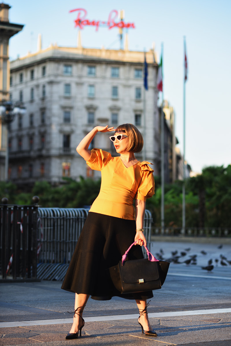 White Caviar Life Milan fashion shoot on location at Piazza del Duomo by fashion photographer Kent Johnson.