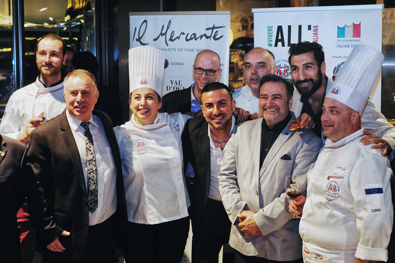 The Second Annual Federation of Italian Chefs Event in Sydney.
