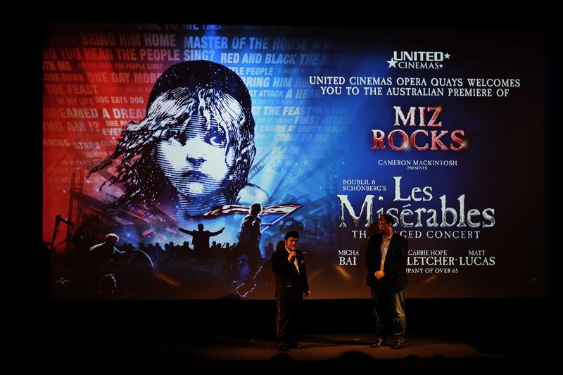 Les Misérables - The Staged Concert Australian premier at the United Cinemas Opera Quays.